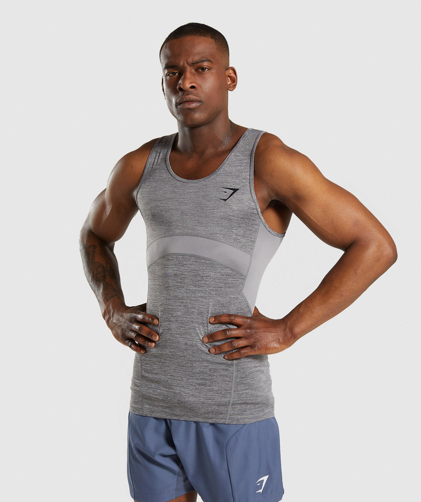 Gymshark Element+ Baselayer Tank - Smokey Grey Marl 1