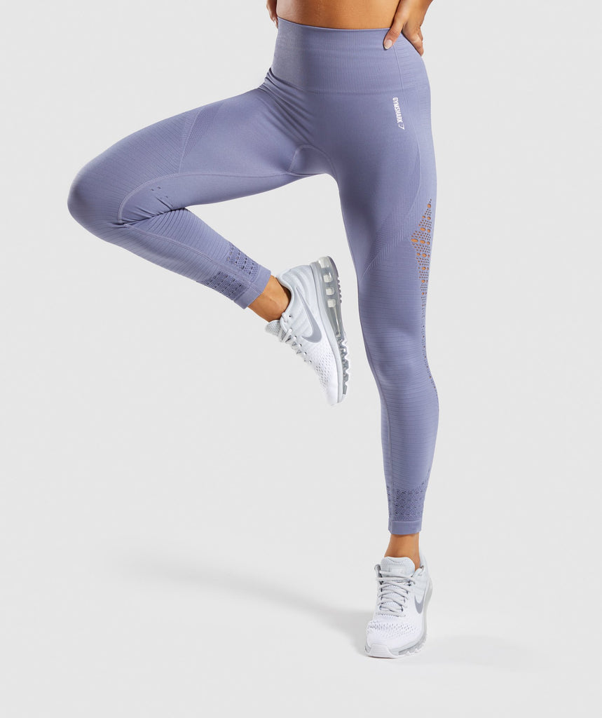 Gymshark Energy+ Seamless Leggings - Steel Blue 1