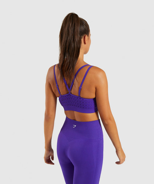 Gymshark Energy+ Seamless Sports Bra - Indigo 1