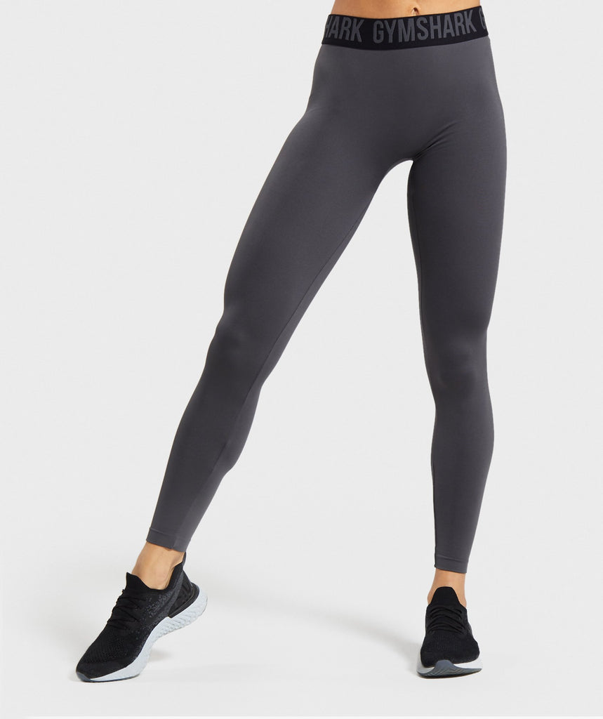 Gymshark Fit Leggings - Charcoal/Black 1