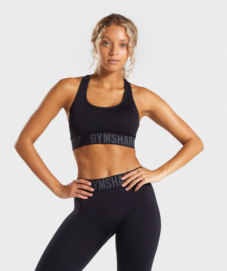 Gymshark Fit Sports Bra - Black/Black 1