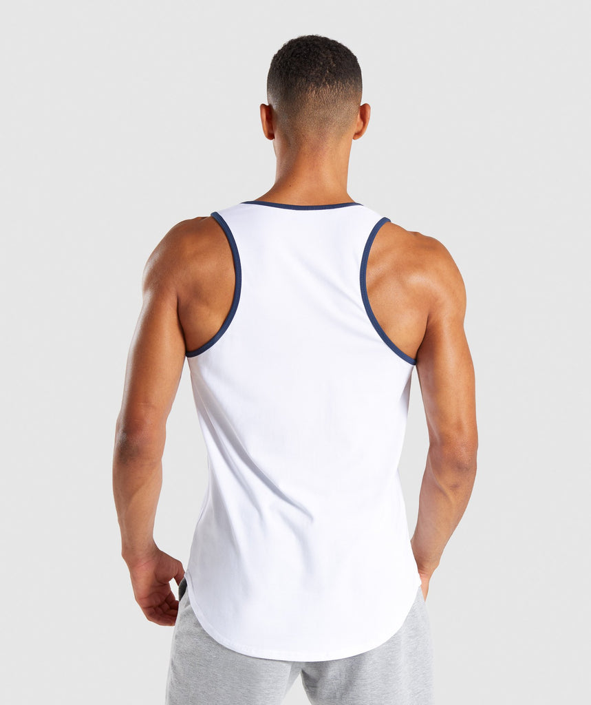 Gymshark Legacy Luxe Tank - White 2