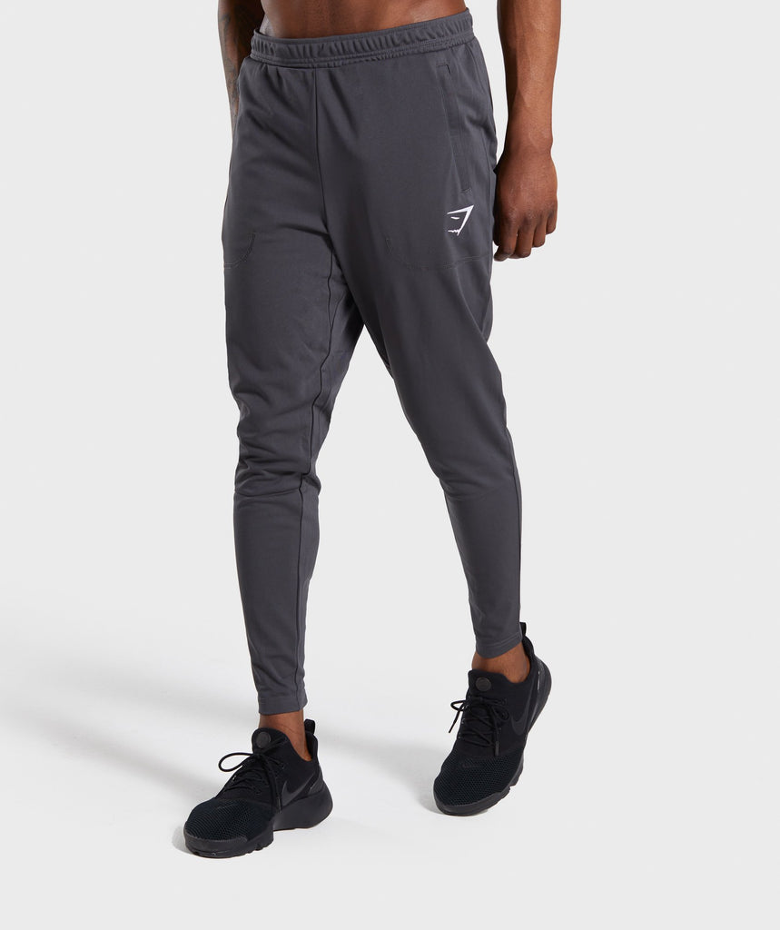 Gymshark Flatlock Bottoms - Charcoal 4