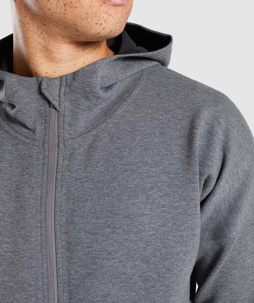 Gymshark Fully Fused Zip Hoodie - Charcoal Marl 6