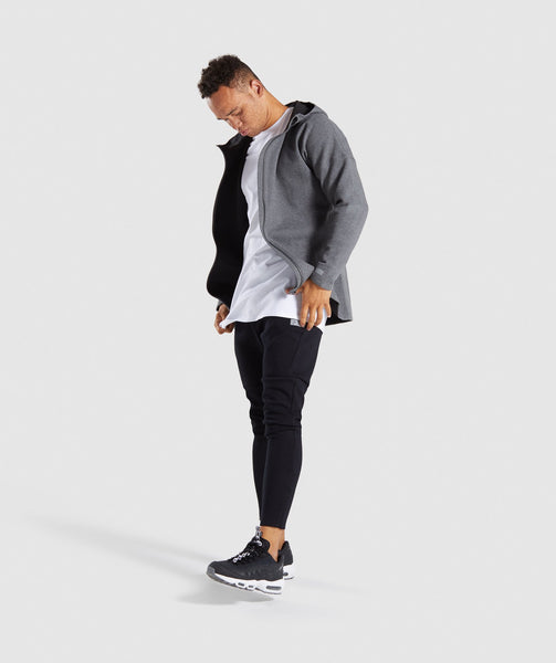 Gymshark Fully Fused Zip Hoodie - Charcoal Marl 3