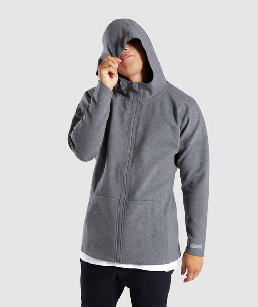 Gymshark Fully Fused Zip Hoodie - Charcoal Marl 2