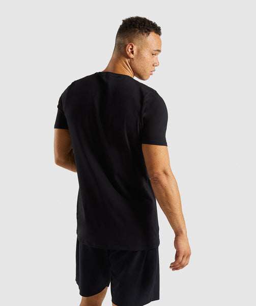 Gymshark Etch T-Shirt - Black 1
