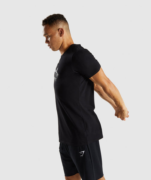Gymshark Etch T-Shirt - Black 2