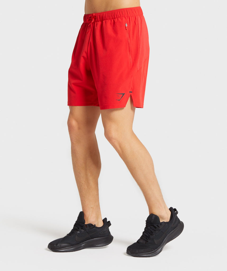 "Gymshark Element Hiit 7"" Shorts - Red 1"