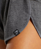 Gymshark Heather Dual Band Shorts - Black Marl 12
