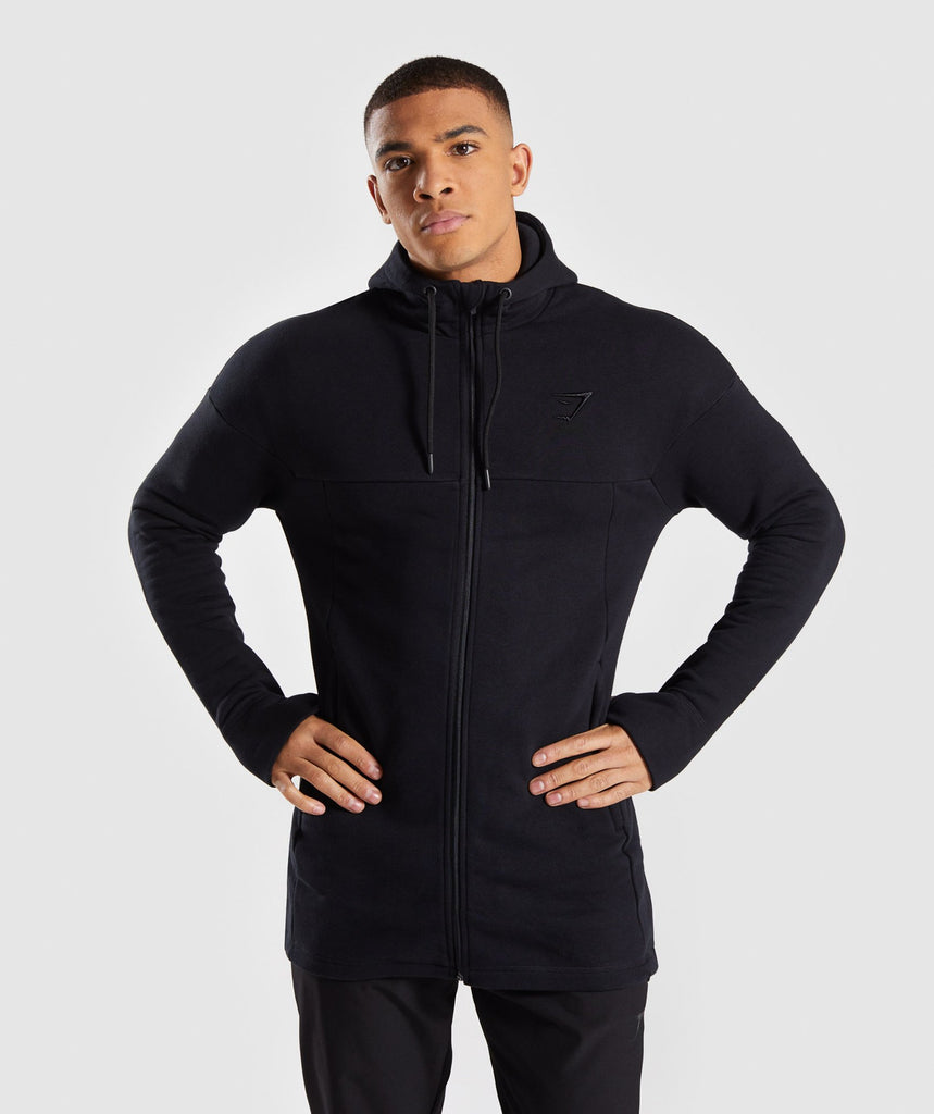 Gymshark Heavy Sweat Jacket - Black 1