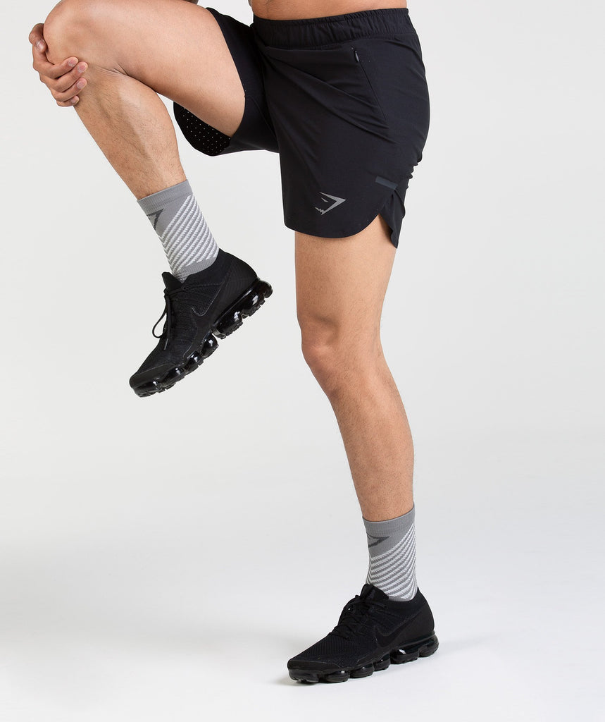 Gymshark Thick Tech Crew Socks - Light Grey 2