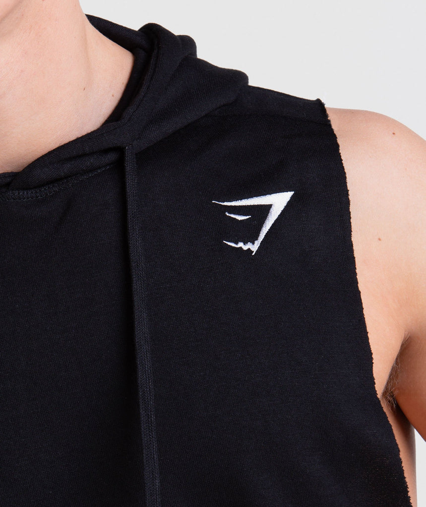 Gymshark Drop Arm Sleeveless Hoodie - Black 5