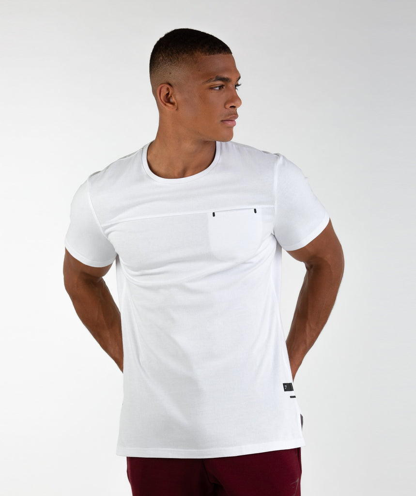 Gymshark City T-Shirt - White 1