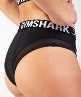 Gymshark Charge Sports Bikini Bottoms - Black 12