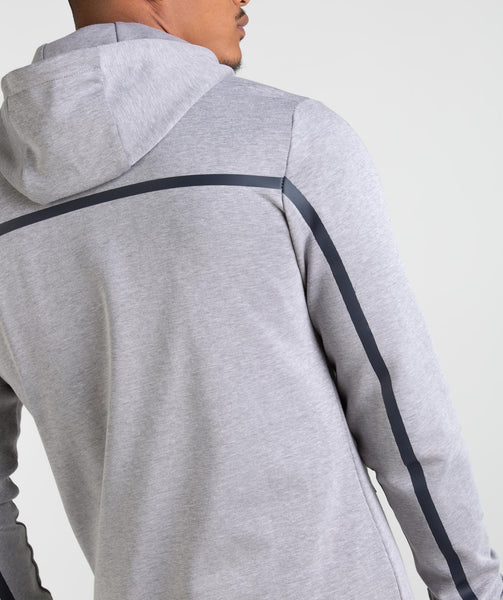 Gymshark Take Over Zip Hoodie - Light Grey Marl 3