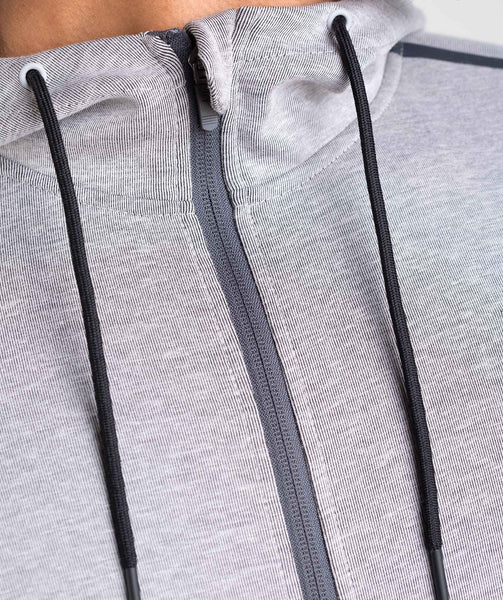 Gymshark Take Over Zip Hoodie - Light Grey Marl 4