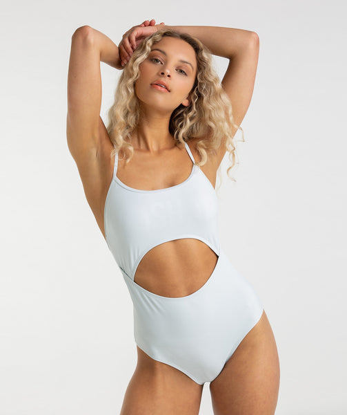 Gymshark Cut Out Swimsuit - Ice Blue 4