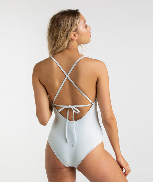 Gymshark Cut Out Swimsuit - Ice Blue 1
