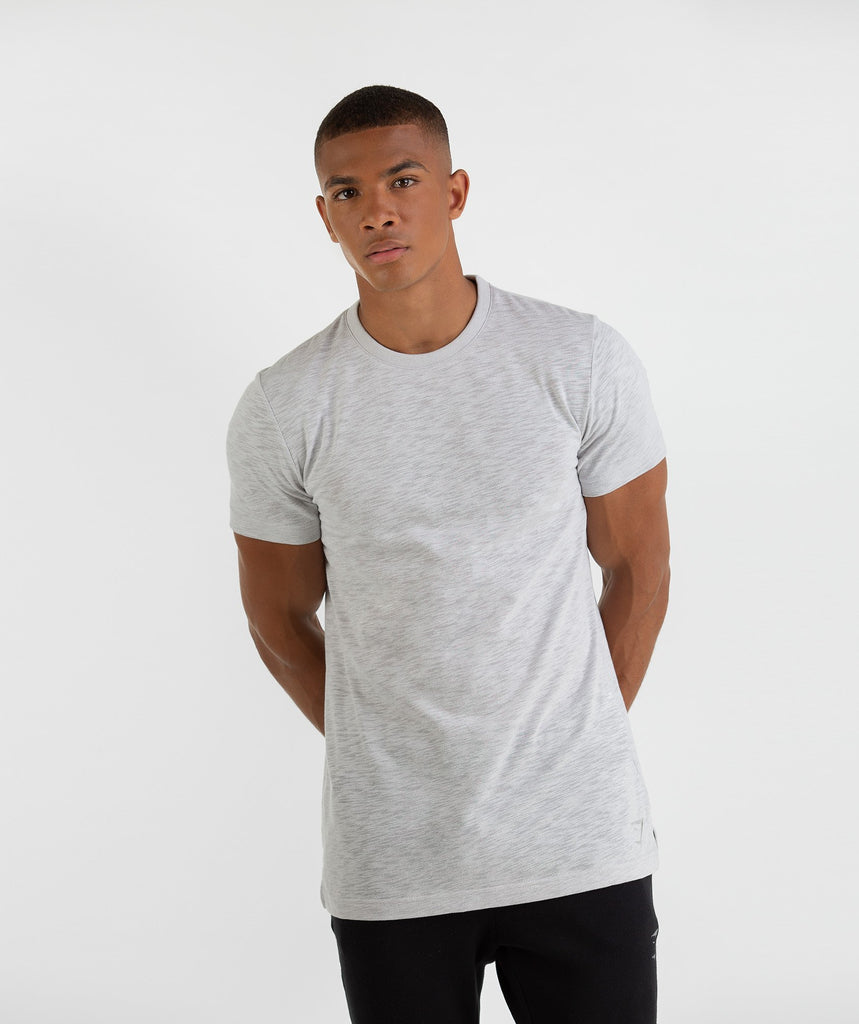 Gymshark Heather T-Shirt - Rustic Grey Marl 1
