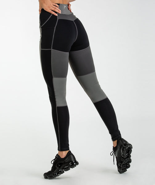 Gymshark Tonal Block Leggings - Black 2