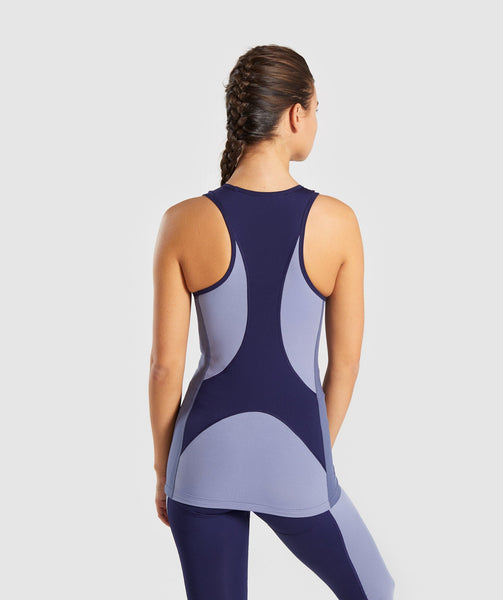 Gymshark Illusion Vest - Evening Navy Blue/Steel Blue/Night Shadow Blue 1