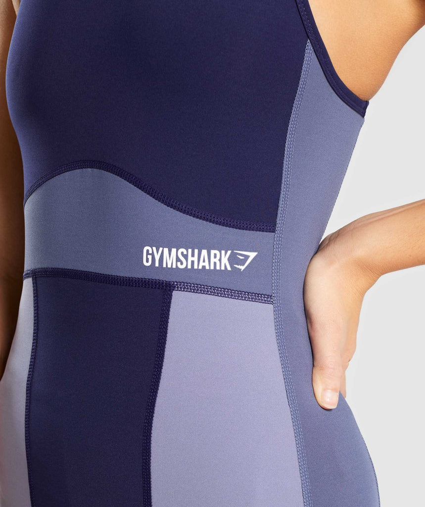Gymshark Illusion Vest - Evening Navy Blue/Steel Blue/Night Shadow Blue 6