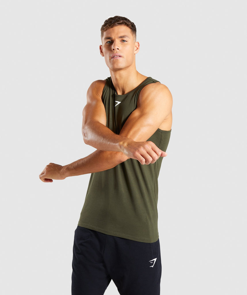 Gymshark Ion Tank - Woodland Green 2