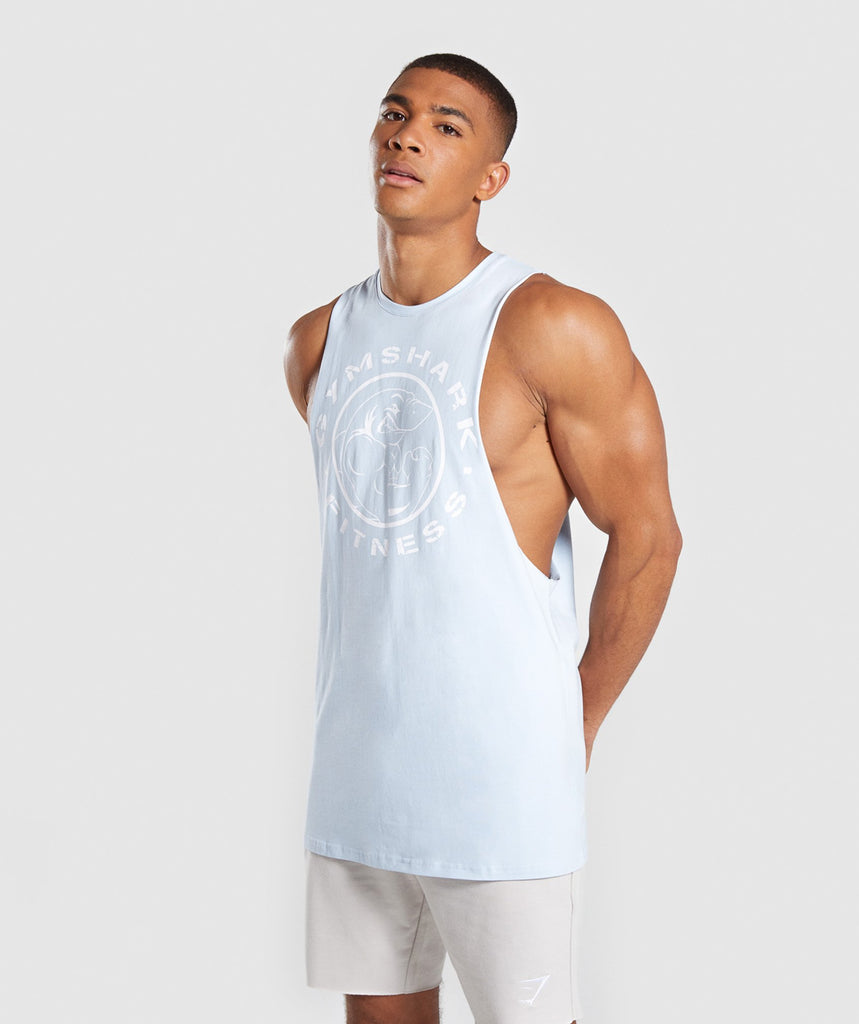 Gymshark Legacy Drop Armhole Tank - Light Blue 1