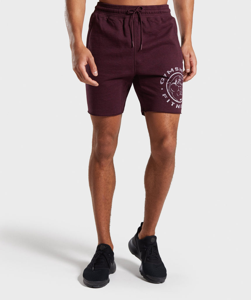 Gymshark Legacy Plus Shorts - Dark Red 1