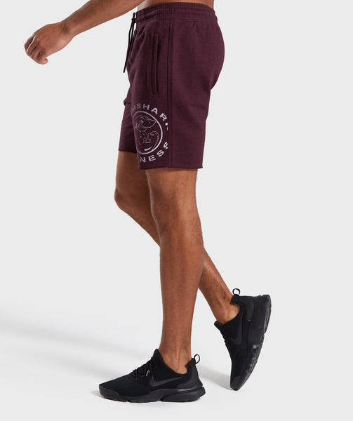 Gymshark Legacy Plus Shorts - Dark Red 2