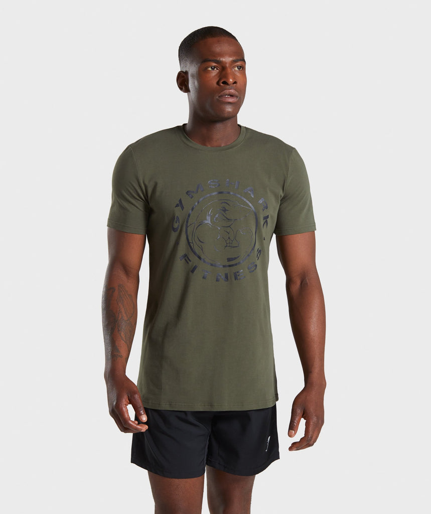 Gymshark Legacy T-Shirt- Dark Green 1