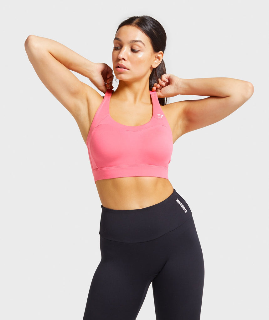 Gymshark Racer Back Training Sports Bra - Pink 1