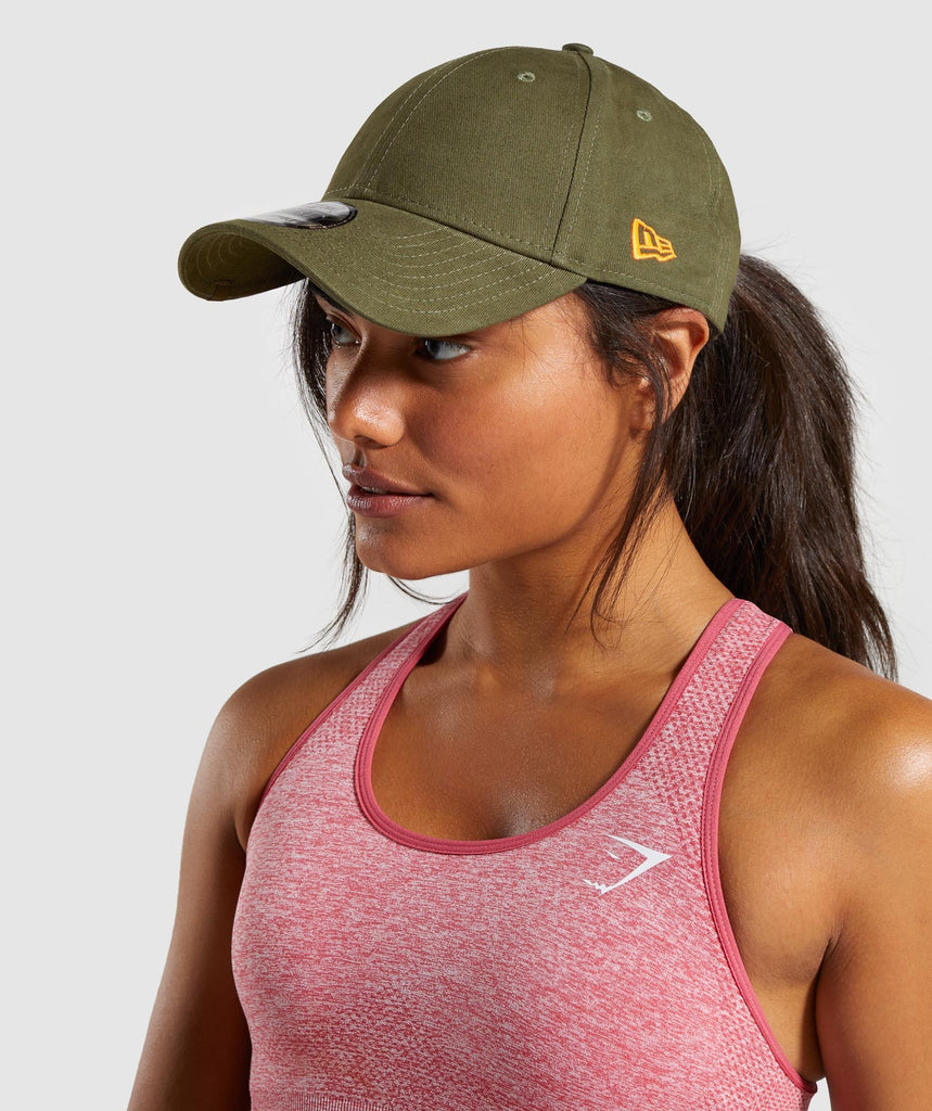 Gymshark New Era 9FORTY Track - Khaki/Orange 1