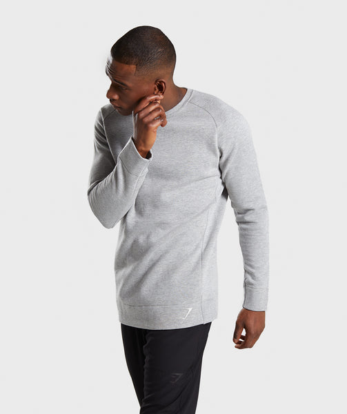 Gymshark Oversized Sweater - Light Grey Marl 2