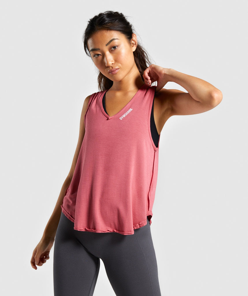 Gymshark Power Down Vest - Rose Slate 1