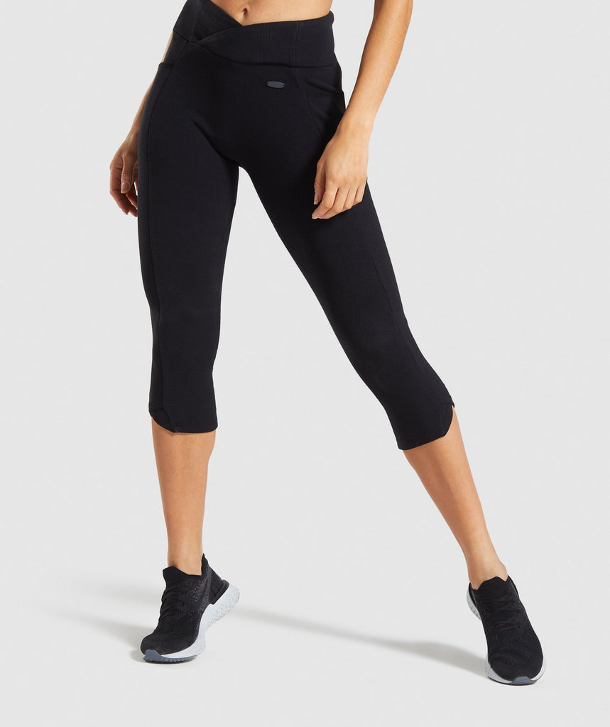 Gymshark Poise Cropped Leggings - Black 1