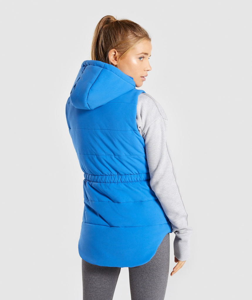 Gymshark Primary Puffer Gilet - Pop Blue 1
