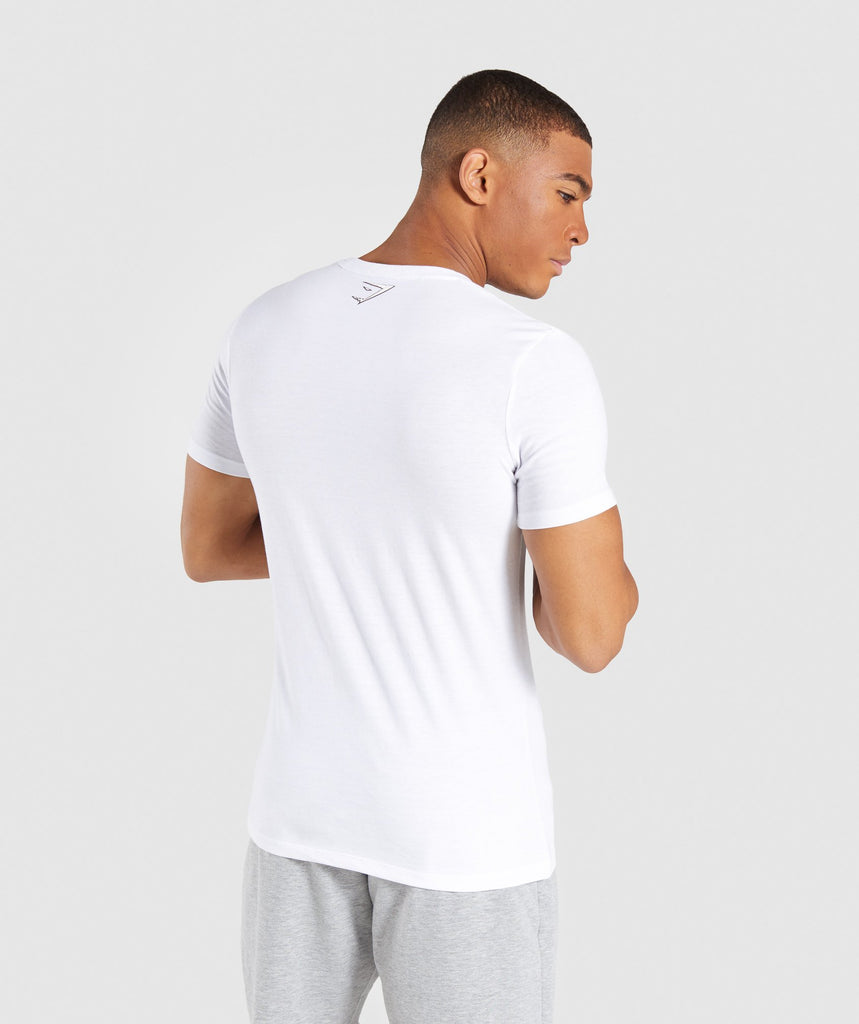 Gymshark Profile T-Shirt - White 2