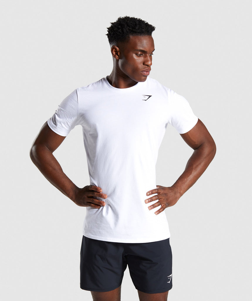 Gymshark Quote T-Shirt - White 1