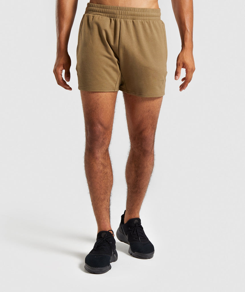 Gymshark Raw Shorts - Khaki 1
