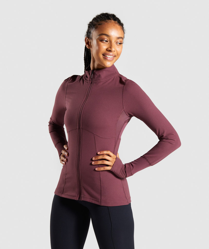 Gymshark Speed Full Zip Jacket - Berry Red 1