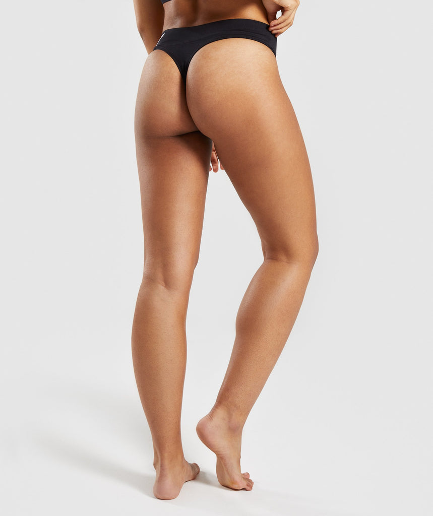 Gymshark Seamless Thong - Black 2