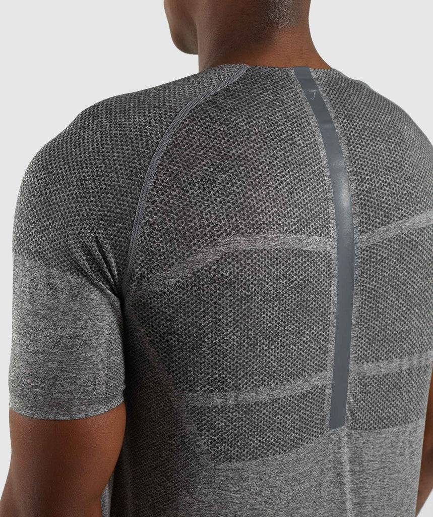 Gymshark Shadow X Seamless T-Shirt - Charcoal Marl 5