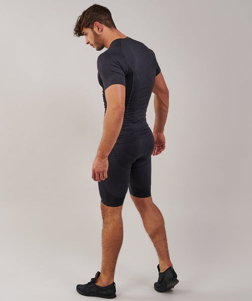 Gymshark Element Baselayer Shorts - Black Marl 2