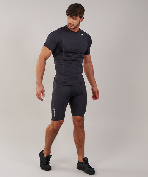 Gymshark Element Baselayer Shorts - Black Marl 4