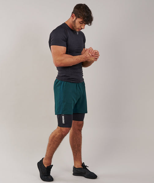 Gymshark Element Baselayer Shorts - Black Marl 3