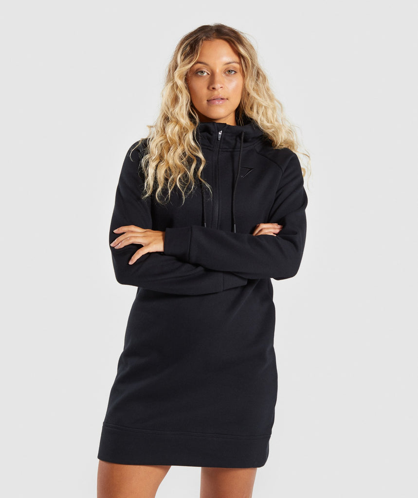 Gymshark Slim Fit Hooded Dress - Black 1