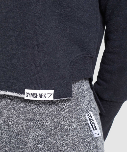 Gymshark Slounge Crescent Sweater - Black Marl 4