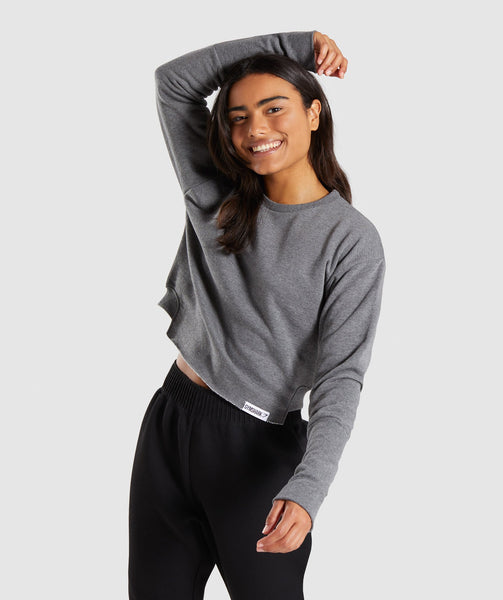 Gymshark Slounge Crescent Sweater - Charcoal Marl 4